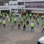 Lanús: 100 voluntarios municipales ayudan a coordinar las filas de los cajeros automáticos