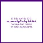 3 de abril: Día de les trabajadores de casas particulares