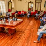 Benito Juarez: El Intendente recibió al Director Nacional de Agricultura Familiar Walter Martin