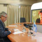 Alberto Fernández mantuvo un diálogo con la titular del Fondo Monetario Internacional