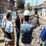 Construyen nuevas cloacas en la localidad de Villa Lamadrid