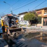 Avanzan las obras de pavimentación en Lanús Este
