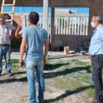 Palazzo recorrió distintas obras que se llevan adelante en la localidad de Rauch