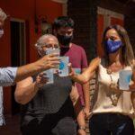 Galmarini y Cascallares inauguraron una red de agua potable en Almirante Brown