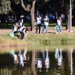 Llevaron adelante una jornada de limpieza en el Lago del Parque Saavedra